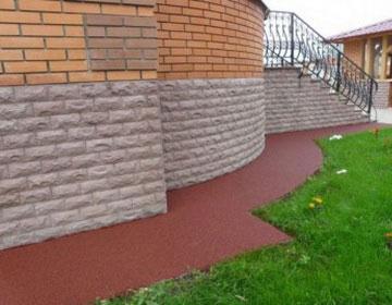 Резиновые покрытия для сада.