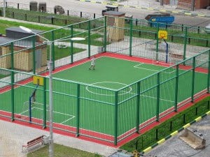 Спортивное резиновое покрытие для детских площадок.
