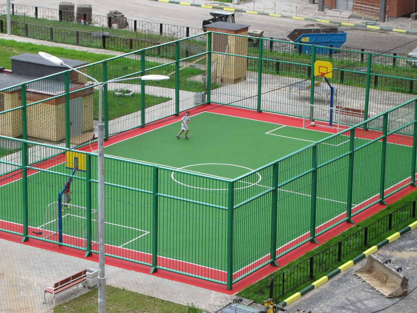 Спортивные площадки в Москве.