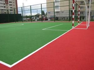 Резиновые спортивные покрытия для открытых площадок.