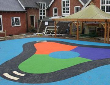 Покрытие для детских площадок.