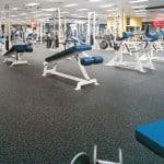 Травмобезопасный наливной пол в спортивном зале.