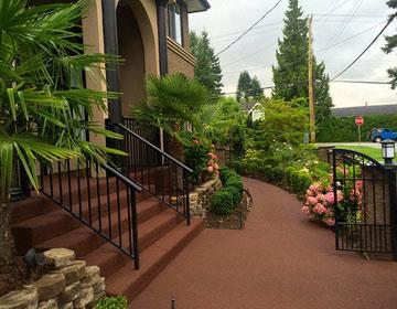 садовые дорожки из резиновой крошки