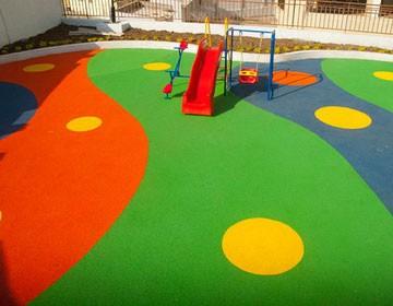 крошка для детских площадок