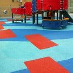 Яркие и безопасные детские резиновые покрытия.