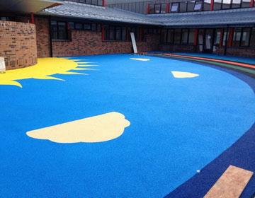 резиновое покрытие детских площадок