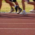 Благоустройство спортивных площадок с применением резины.