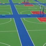 Купить покрытие для спортивных площадок из резины.