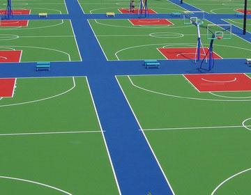 Открытые спортивные площадки.