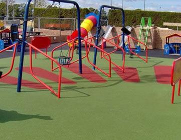 Спортивная площадка в детском саду.
