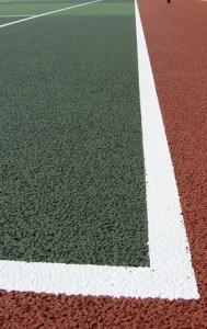 Резиновая крошка для спортивных площадок.