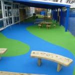 Бесшовные покрытия для детских площадок.