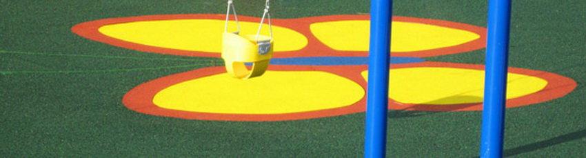 Покрытие для детских площадок на даче.