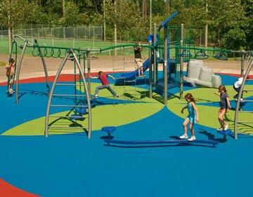 Детская спортивная площадка для дачи.