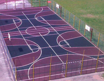 Устройство спортивных площадок.