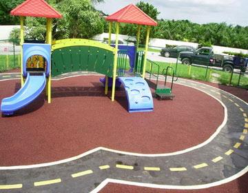 Уличное покрытие для детской площадки.