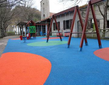 Мягкое покрытие для детских площадок.