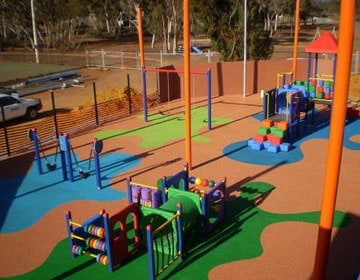 Оборудование и покрытия детских игровых площадок.