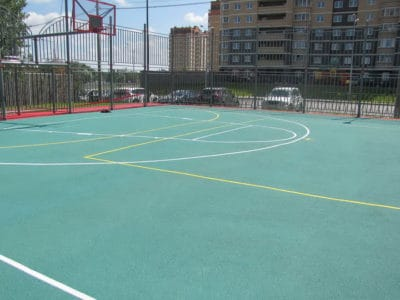 Резиновые покрытия для спортивных площадок.