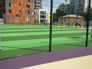 Спортивное резиновое покрытие для улицы.