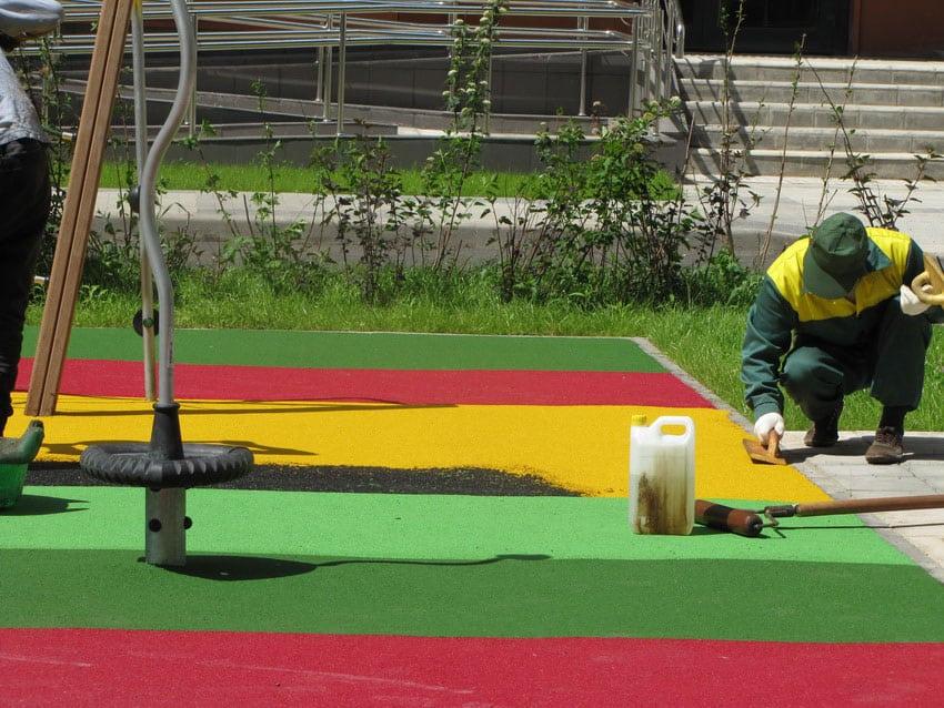 Изготовление резинового покрытия.
