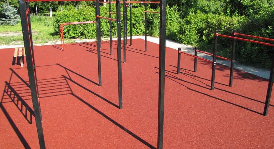 Резиновое покрытие спортивных площадок