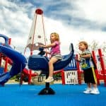 Резиновое покрытие для детских площадок цена.