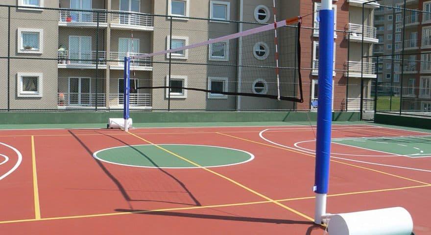 Покрытие волейбольной площадки.