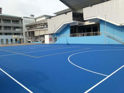 Покрытие волейбольной площадки на улице.