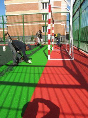 Покрытие площадки для мини футбола.