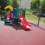 Искусственное покрытие для детских площадок.