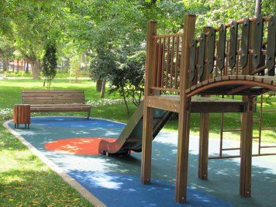 Тартановое покрытие для детских площадок.