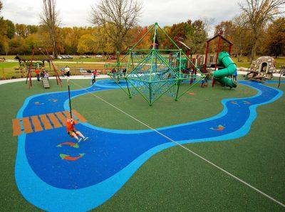 Уличное резиновое покрытие для детских площадок.
