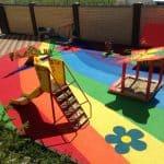 Покрытие детских площадок во дворах.