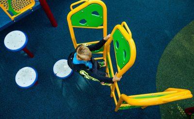 Покрытие спортивной площадки в детском саду.