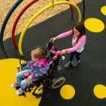 Резиновые детские площадки.