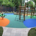 Резиновая крошка для детских площадок цена.