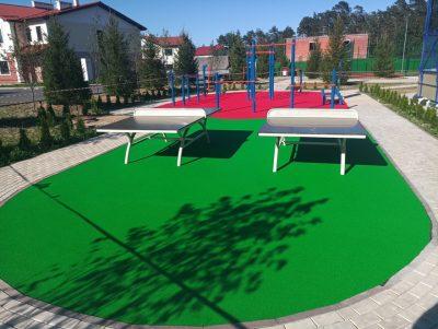 Покрытие для уличных спортивных площадок.