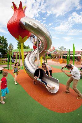 Бесшовное покрытие для детской площадки.