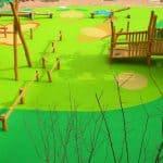 Прорезиненное покрытие для детских площадок.