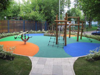 Устройство покрытия деткой площадки.