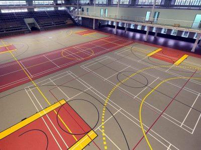 Спортивное покрытие для спортзала.