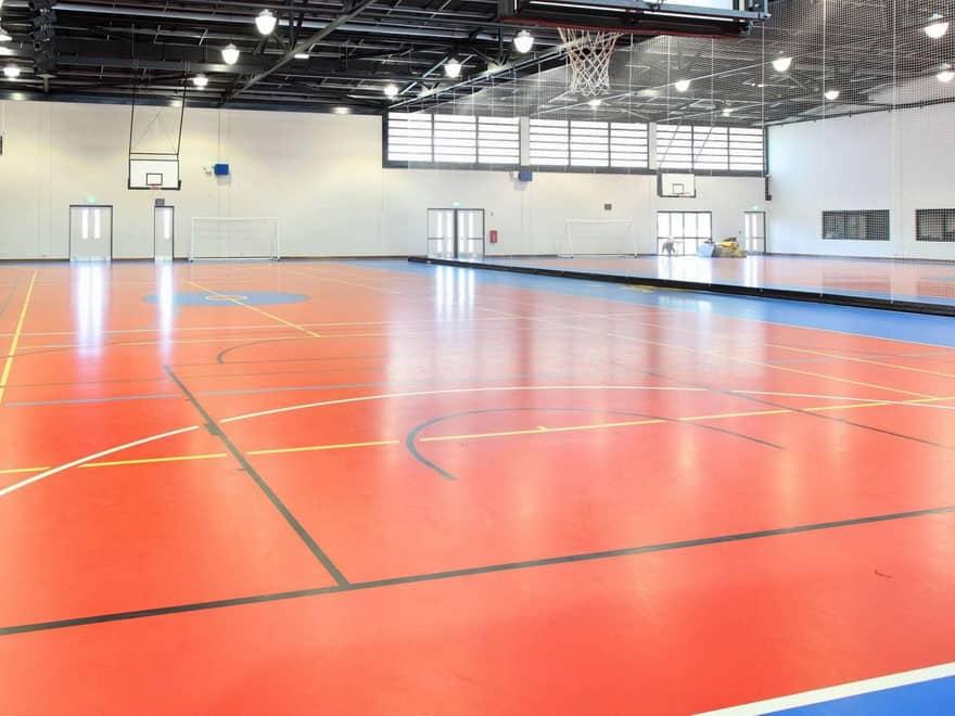 Полы в спортивных залах.