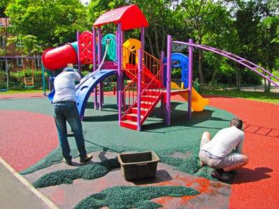 Секрет особых качеств детских резиновых покрытий.