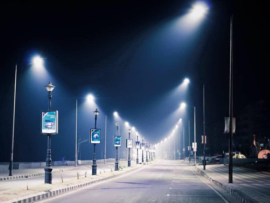 Правильное освещение улицы светодиодными фонарями