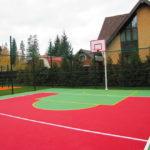 Бесшовное покрытие для спортивных площадок.