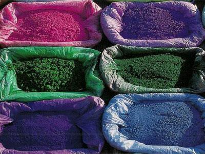 Порошковые пигменты для резиновых покрытий.