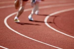 Спортивное покрытие из резиновой крошки.