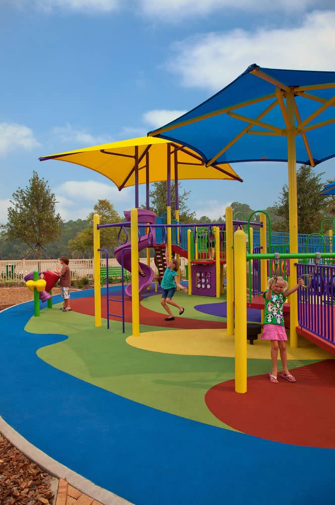 Безопасное покрытие детских игровых площадок.