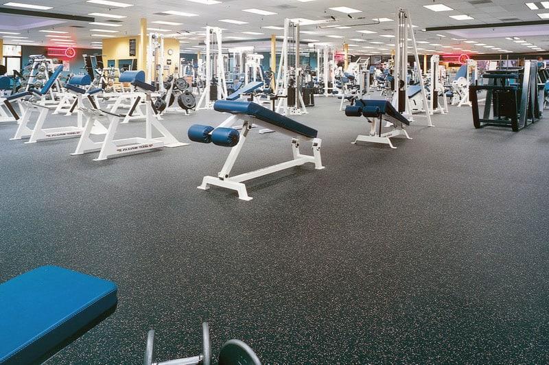 Резиновые полы для спортзалов.